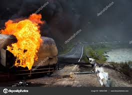 Burning Gas Tank Truck Road Accident — Stock Photo © Bucks134 #146841309 Russian Truck Gas Explosion Hd Tanker Truck Fire Kills More Than 100 People In Gerianile Tanker Fire Kills Driver Temporarily Shuts Down I270 And Us Explodes Closing I94 Near Detroit Chicago Tribune Overturned Causes Massive Atwater Driver Dies At The Scene Propane Gas Explosions In Jackson Hole Wy At Amerigas Nevada County Wreck Update Authorities Recover Victims Of Fatal Arrested Umvoti Drivers Released Zuland Obsver Explosion Gnville The Daily Gazette Injuries From Modern Sales Pittston Pa Watch A Fuel Burst Into Massive Fireball On Louisiana Energy Accidents Wikipedia