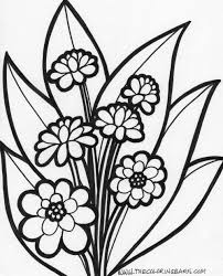 Free Coloring Page Flowers With Pages