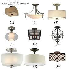 ideas to update lighting on a budget using flush mount light