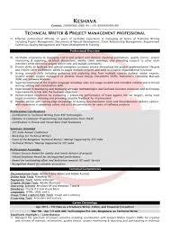Technical Writer Sample Resume
