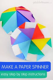 How To Make A Paper Spinner Includes Easy Step By Instructions For Making This Cool Origami Fun Activity Kids