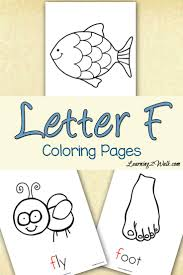 My Daughter Loved These Free Preschool Letter Activities F Coloring Pages