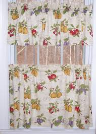 Beautiful Kitchen Curtains Walmart For Decoration Ideas Country Fruit