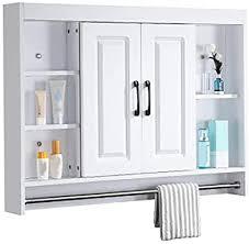 de bels badezimmerschrank mit spiegel weiß modern