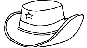 Hat Coloring Page Cowboy Barriee