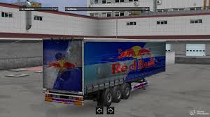 100 Redbull Truck Trailer By LazyMods For Euro Simulator 2
