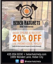 20% OFF For Online Bookings – Heber Hatchets Axe Throwing ... Midway Car Rental Coupon Code Circle K Promo Electronic Cigarettes Of Houston Coupon Code Sushi 101 Capital City Discount Playstation 4 Uk Codes Usa Ar15 Com Veltin Gel 3parisinfo Nike Factory Store Near Me Now Marina Bay Sands Sanebox Partners Present Productivity Gold 200 In 20 Percent Off Home Depot Chtalk Sports Off For Online Bookings Heber Hatchets Axe Throwing Movie Ticket Offers Codes Deals Discount Coupons Up Grabs Uber Driver Invite Ridester Samsung Online Promotion Travelex