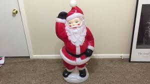 Halloween Blow Molds 2015 by Vtg 1978 Empire Dancing Santa Blow Mold Youtube