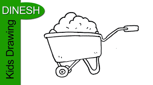 How to Draw a Wheelbarrow Drawing for kids