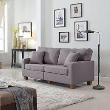 divano roma furniture 73 inch seat linen fabric