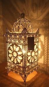 Torchiere Table Lamp Uk by Stunning Moroccan Style Vintage Jeweled Cutwork Flower Table Lamp
