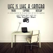 Impressive Life Is Like A Camera Quote Wall Stickers Adesivo De Parede Vinyl Home
