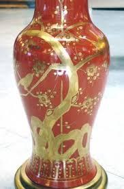 Marbro Lamp Company Los Angeles by Marbro Lamp Company A Tall American 1960 U0027s Orange Red Porcelain