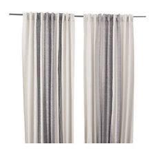Ikea Sanela Curtains Grey by Ikea Contemporary 100 Cotton Curtains Drapes U0026 Valances Ebay