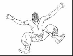 Remarkable Printable Wwe Coloring Pages With Wrestling And