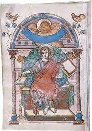 Mark StSt The Evangelist Illuminated Manuscript Page From Gospel Book Of Court School Charlemagne C 810 In Stadtbibliothek