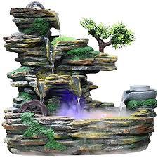 de lofami zimmerbrunnen wohnaccessoires steingarten