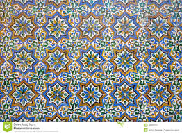 seville the detail of tiles in mudejar style in courtyard of