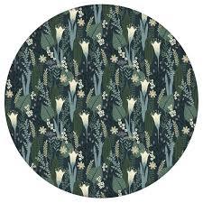 blumentapete wellness für die augen in blau grün design tapete für wohnzimmer