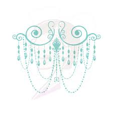 Chandelier Frames Turquoise Teal Classic Design Retro Border Wedding Clip Art DIY Bridal Shower Engagement Invites