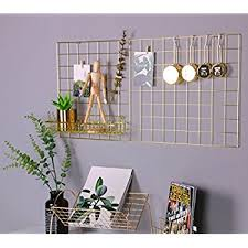 Grid Panel Photo Wall SimmerStone Multifunction Wire Mesh Display Decorative Iron Rack Clip Photograph