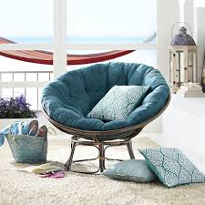 Foldable Oversized Papasan Chair In Indigo by De Papasan Stoel Een Grote Ronde Relaxfauteuil Die Erg Was