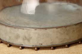 Metal Cake Stand With Glass Cloche 105x8in