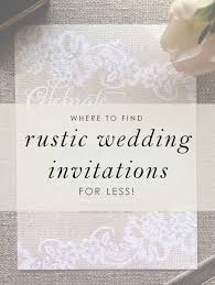 Find Rustic Wedding Invitations For Less At Anns Bridal Bargains