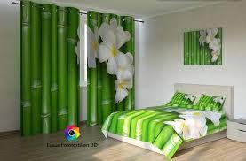 fotogardinen bambus vorhänge gardinen nach maß vorhang mit motiv 3d bedruckt