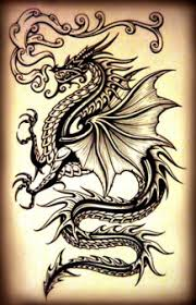 Gothic Dragon Tattoo