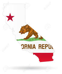 California State Flag With Maps Stock Vector