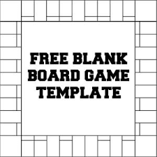 Printable Monopoly Board Game Template