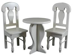 Cafe Table & Chair Set for 18 Inch Girl Dolls fits 18