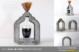 HomeMade Modern DIY Concrete Coffee Maker Postcard
