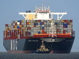 le havre accueille le msc oscar plus gros porte conteneurs du
