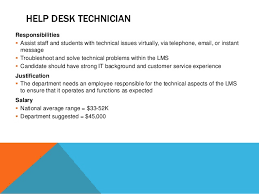 Help Desk Technician Salary by The New Instructional Design And Information Management Department U2026