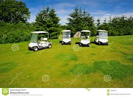 99 Eco Golf Four Transporters On Course Stock Photo Image Of Color