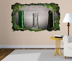 3d wandtattoo weinflaschen leer retro stillleben selbstklebend wandbild wohnzimmer wand aufkleber 11l1779
