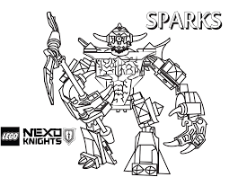 Lego Knights Coloring Pages 14 LEGO Nexo Free Printable