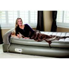 Aerobed Queen Raised Bed With Headboard by Amazon Com The Original Aerobed New Super Fast Inflation