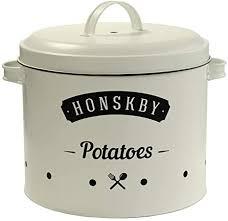 honskby kartoffel vorratsdosen elegante vintage qualität design dose zum aufbewahren kartoffeln aufbewahrung küche