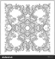 Stock Vector Medieval Floral Royal Pattern From