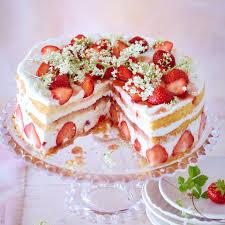 erdbeer holunderblüten torte rezept
