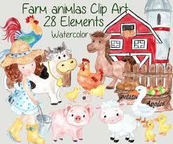Farm Animals Clipart: FARM CLIP ART Watercolor Childrens Bnyard Farm Animals Felt Mini Combo Of 4 Masks Free Animal Clipart Clipartxtras 25 Unique Animals Ideas On Pinterest Animal Backyard How To Start A Bnyard Animals Google Search Vector Collection Of Cute Cartoon Download From Android Apps Play Buy Quiz Books For Kids Interactive Learning Growth Chart The Land Nod Britains People