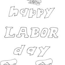 Happy Labor Day Coloring Page