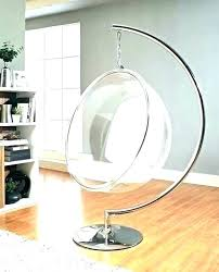 Round Hanging Chair Glass Egg Swing Hammock Seat