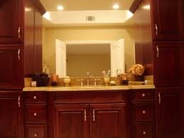 bathroom vanity and tower linen cabinets traditional bathroom
