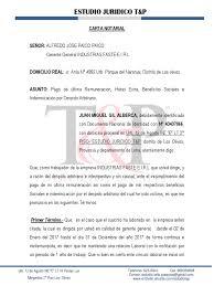 Carta Notarial LABORAL