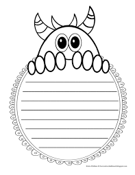 Monster Writing Template Archives