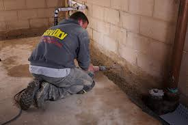 tile creative how to install interior drain tile in basement